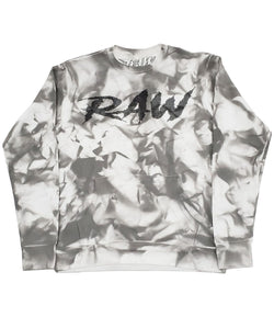 Cursive RAW Black Bling Long Sleeves - Dye Grey