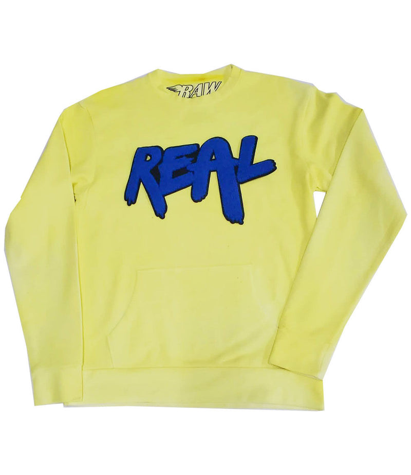 Real Royal Chenille Long Sleeves - Dye Yellow