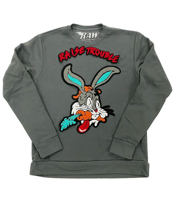 Raise Trouble Bunny Chenille Long Sleeves - Heavy Metal