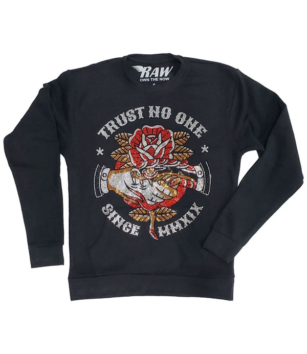 Trust No One Bling Long Sleeves - Black