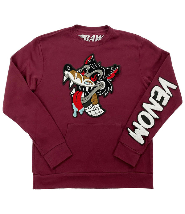 Wolf Venom Chenille Long Sleeves - Maroon