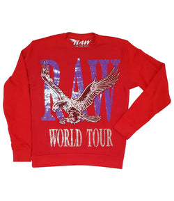 RAW World Tour Blue Bling Long Sleeves - Red