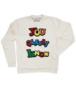You Already Know Chenille Long Sleeves - Cream