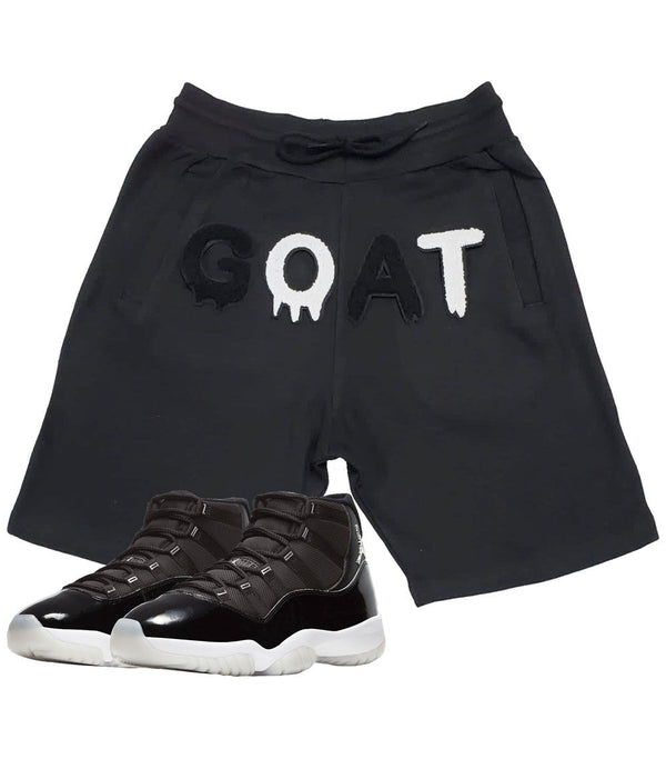 GOAT Black Chenille Cotton Shorts - Black