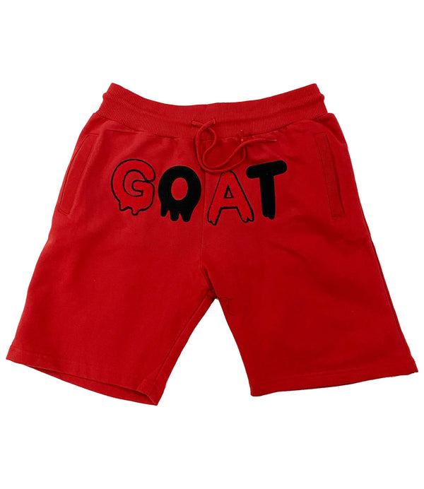 GOAT Chenille Cotton Shorts - Red