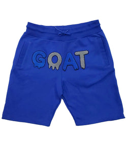 GOAT Royal Chenille Cotton Shorts - Royal