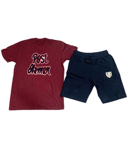 Post Human Chenille Crew Neck and Cotton Shorts Set