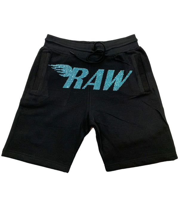RAW Aqua Bling Cotton Shorts