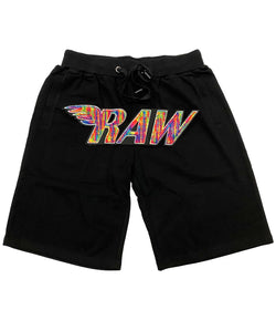 RAW Bel Air Chenille Cotton Shorts - Black