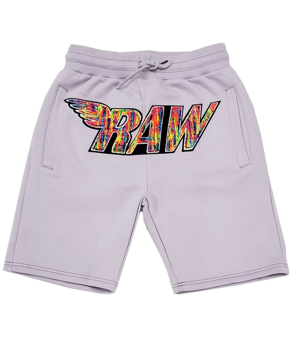 RAW Bel Air Chenille Cotton Shorts - Light Purple