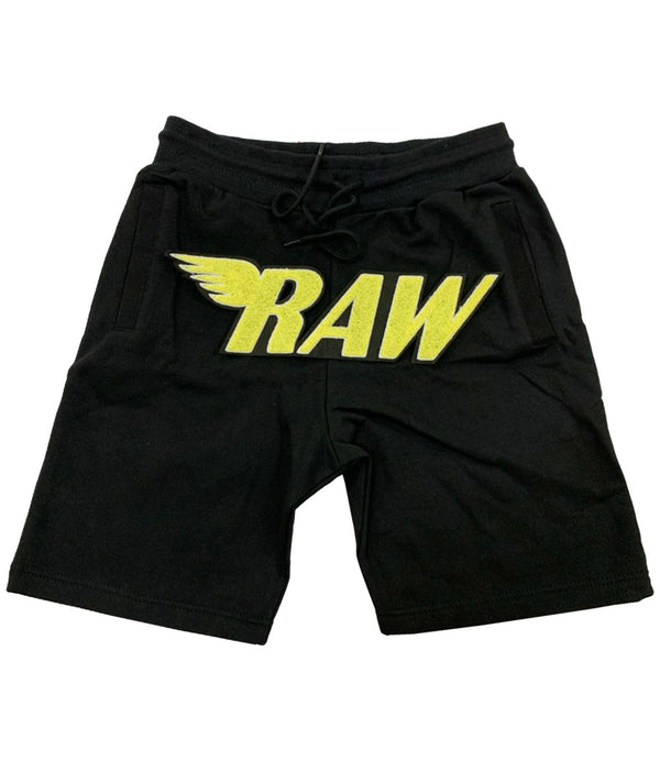 RAW Bright Yellow Chenille Cotton Shorts