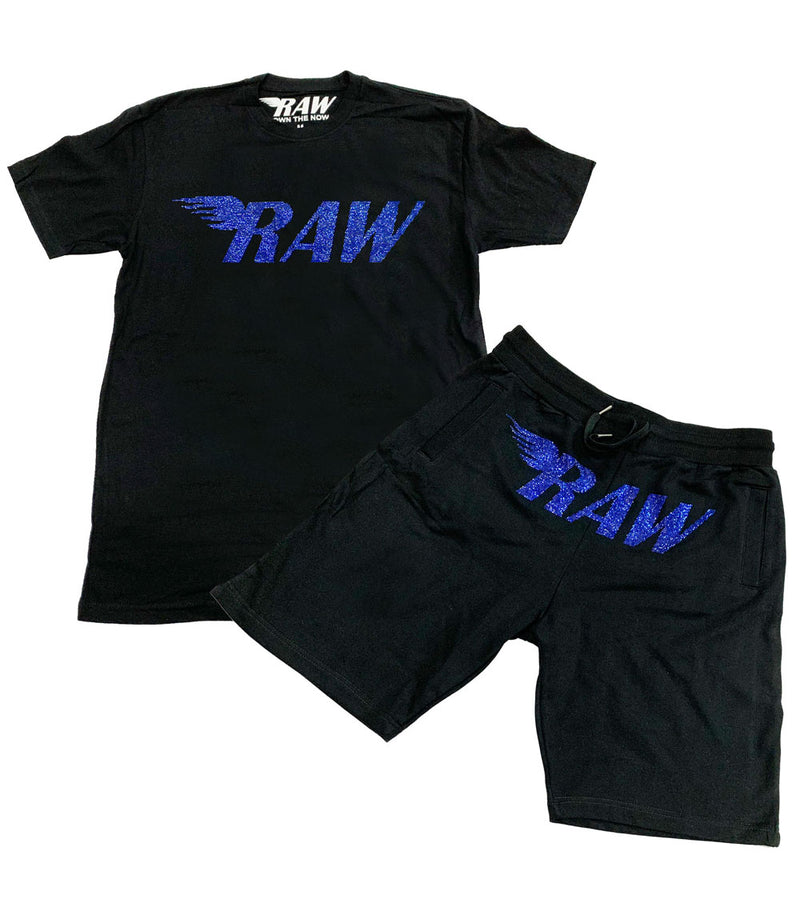RAW Montana Bling Crew Neck and Cotton Shorts Set