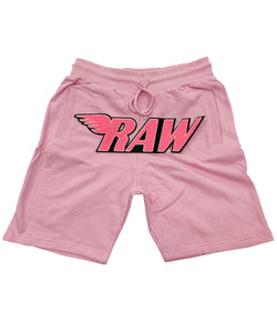 RAW Neon Pink Chenille Cotton Shorts