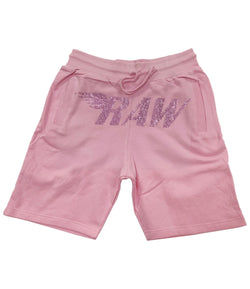 RAW Pink Bling Cotton Shorts