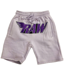 RAW Purple Chenille Cotton Shorts - Light Purple