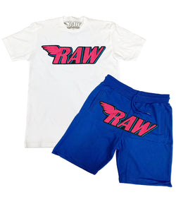 RAW Vice Chenille Crew Neck and Cotton Shorts Set