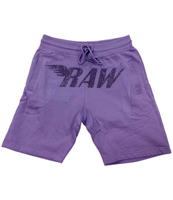 RAW Violet Bling Cotton Shorts