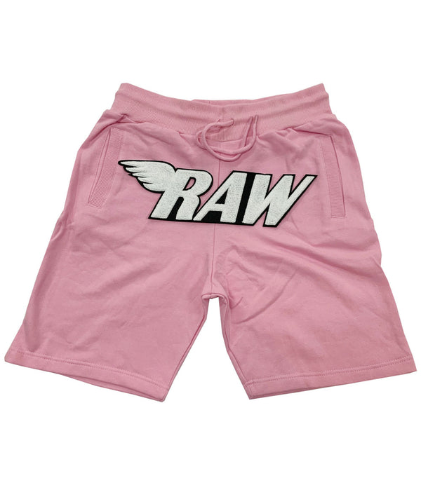 RAW White Chenille Cotton Shorts