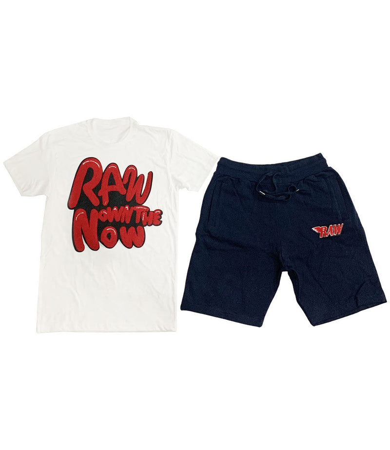 RAW Bubble Chenille Crew Neck and Cotton Shorts Set