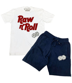 Raw n Roll Chenille Crew Neck and Cotton Shorts Set