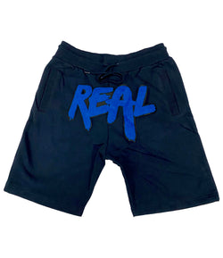 Real Royal Chenille Cotton Shorts - Midnight Navy
