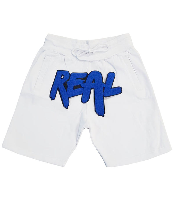 REAL Royal Chenille Cotton Shorts - White