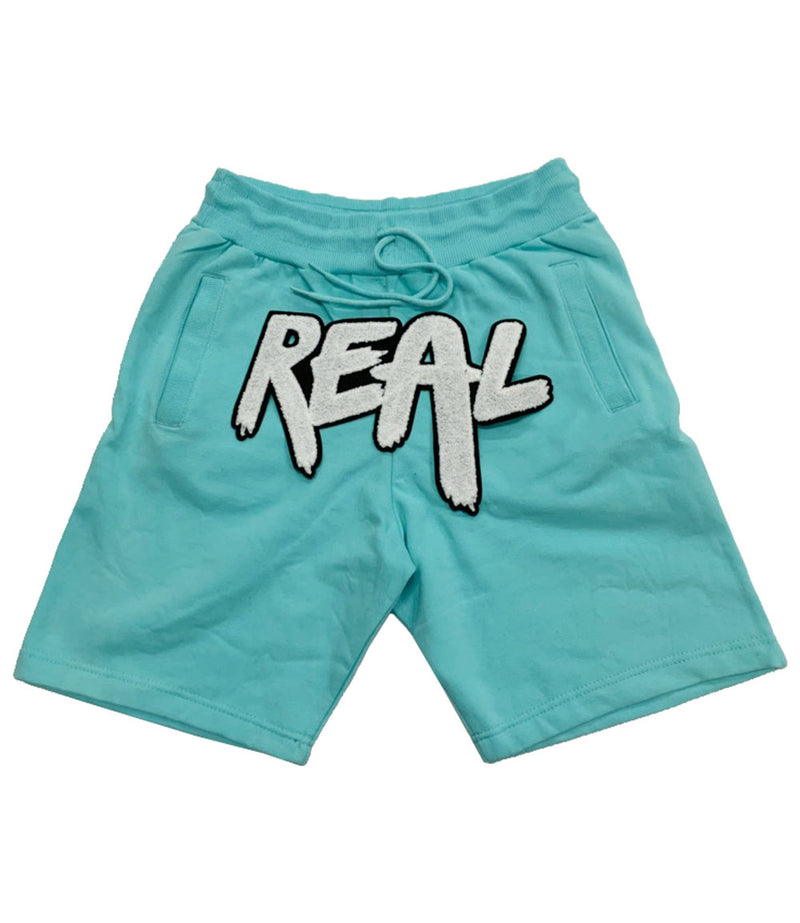 Real White Chenille Cotton Shorts
