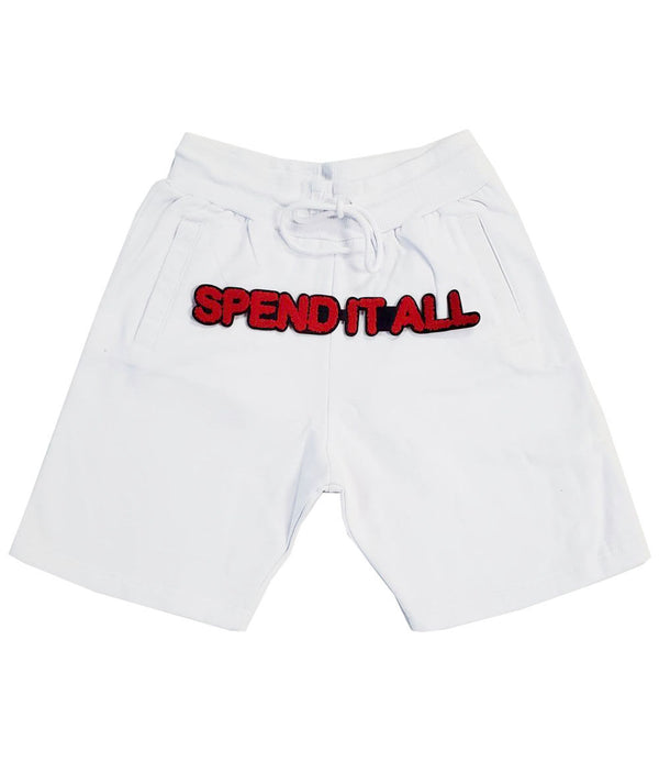 Spend It All Chenille Cotton Shorts - White