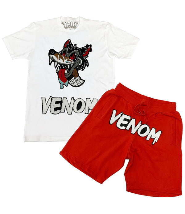Wolf Venom Chenille Crew Neck and Cotton Shorts Set
