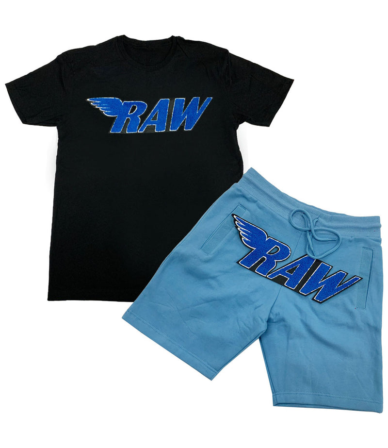 RAW Royal Chenille Crew Neck and Cotton Shorts Set