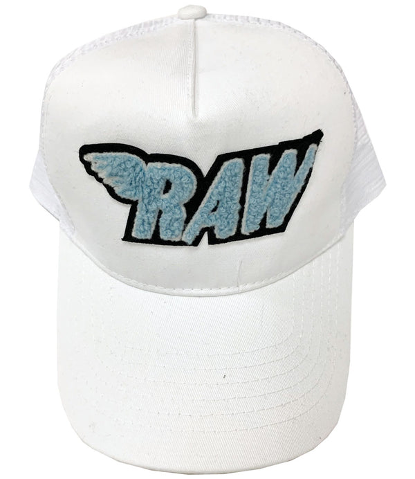 RAW Baby Blue Chenille Hat