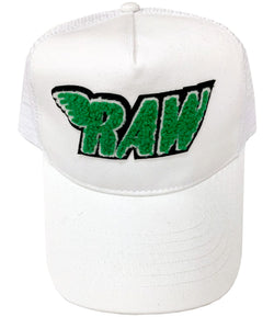RAW Green Chenille Hat
