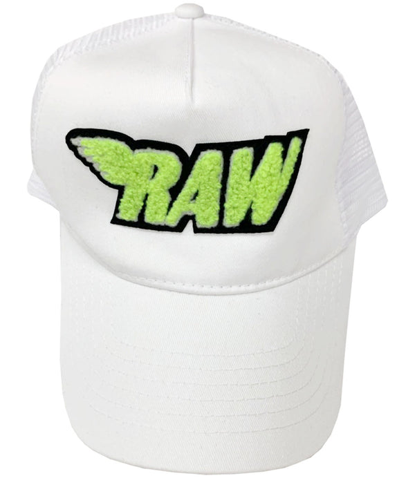 RAW Neon Yellow Chenille Hat