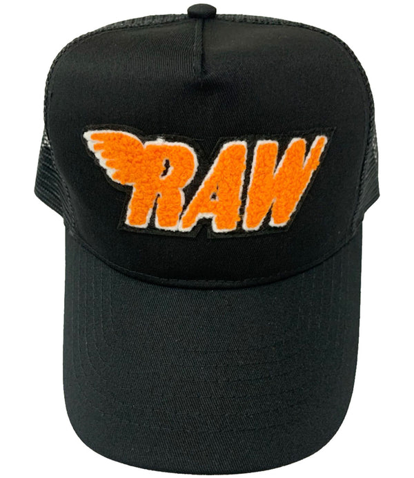 RAW Orange Chenille Hat