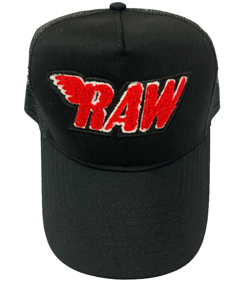 RAW Red Chenille Hat