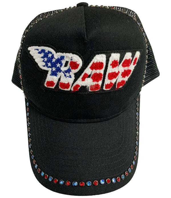 RAW USA Chenille Bling Hat