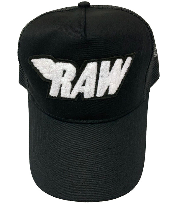 RAW White Chenille Hat