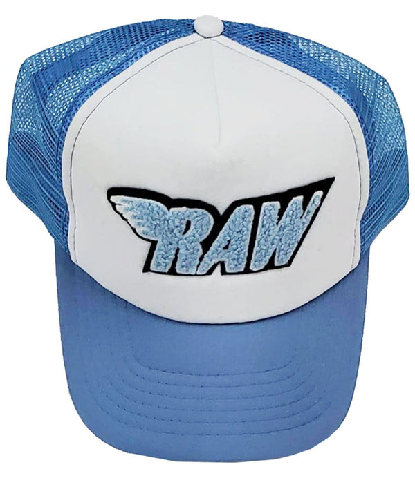 RAW Baby Blue Chenille Taw Hat - Blue/White