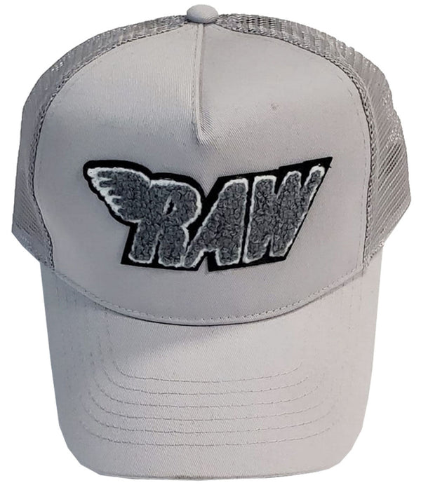 RAW Grey Chenille Taw Hat - Grey/Grey