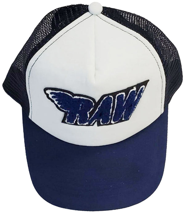 RAW Navy Chenille Taw Hat - Navy/White