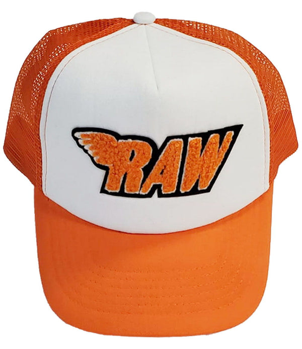 RAW Orange Chenille Taw Hat - Orange/White