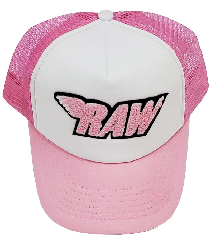 RAW Pink Chenille Taw Hat - Pink/White