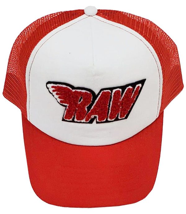 RAW Red Chenille Taw Hat - Red/White