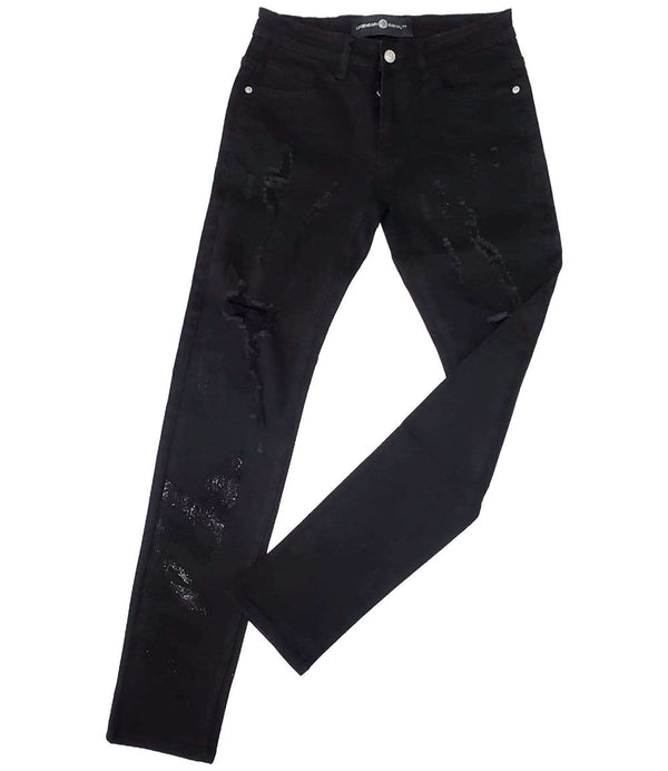 RAW Black Bling Denim Jeans - Black