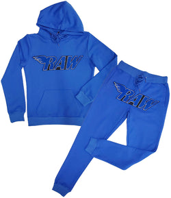 RAW Royal Chenille Hoodie and Joggers Set - Royal Hoodie / Royal Jogger