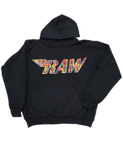 Kids RAW Bel Air Chenille Hoodie - Black
