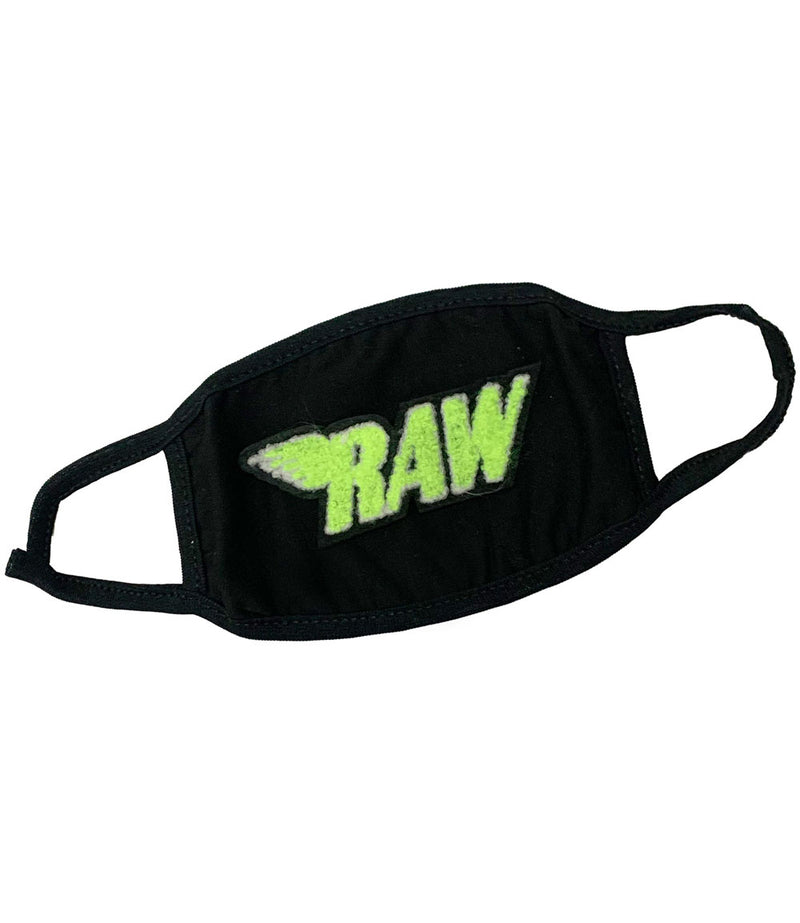 RAW Neon Yellow Chenille Washable Reusable Face Mask