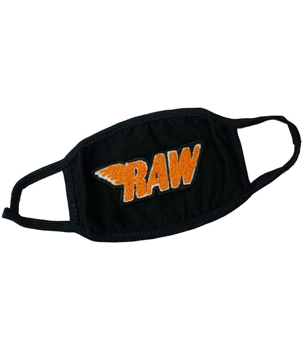 RAW Orange Chenille Washable Reusable Face Mask