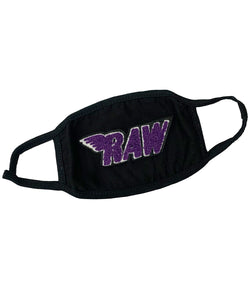 RAW Purple Chenille Washable Reusable Face Mask