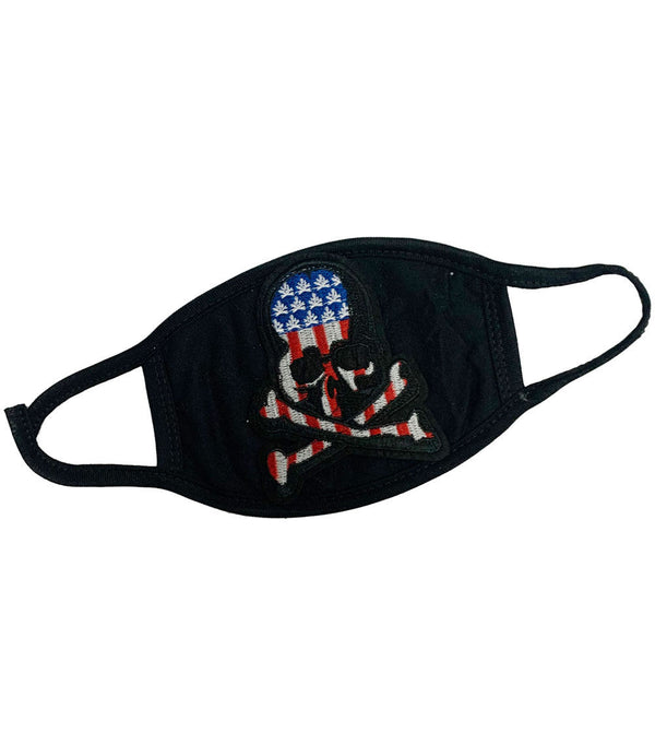 Skull Flag Patch Washable Reusable Face Mask